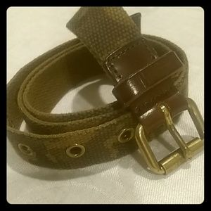 J.Crew camouflage cloth belt XS
